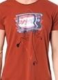Kaft Baskılı Tişört Bordo